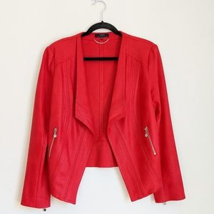 VEX 10US Collection Red Faux Suede Jacket